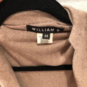 William B Sweaters - BNWOT William B Asymmetrical Fringe Sweater Sz M